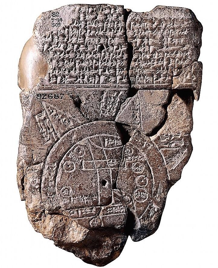 Imago mundi. Babilonia. 600 a.C. (British Museum)