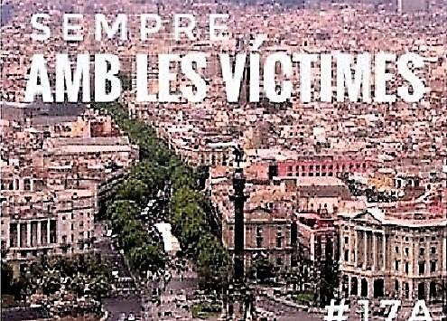 Tuit catalán de Pedro Sánchez de apoyo las víctimas, de donde se eliminaron el escudo y la bandera de España. MONCLOA