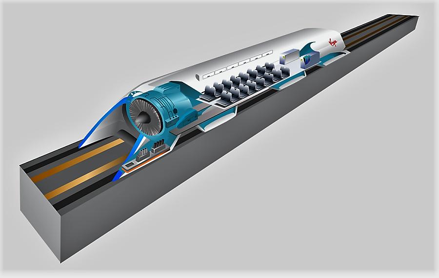 Nuevos sistemas de transporte, como el Hyperloop. WIKIPEDIA