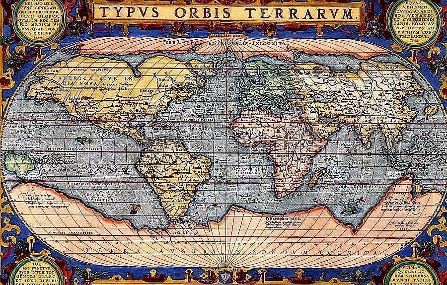 Mapa muy detallado del siglo XVI, que incluye la Antártida, que no fue descubierta hasta el XIX.