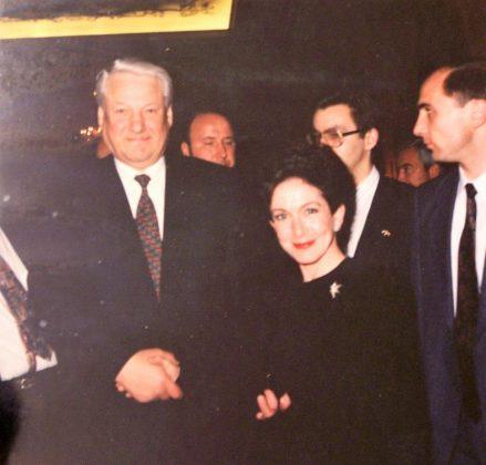 Con Boris Yeltsin.