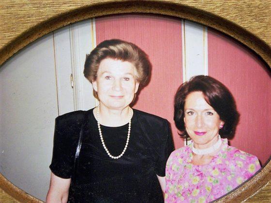 Con Valentina Thereskova, la primera mujer cosmonauta del mundo.
