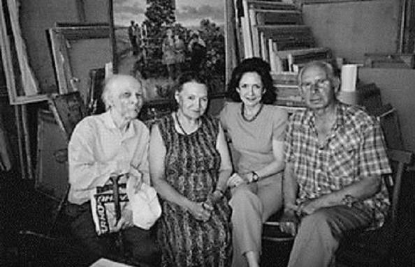 En Rusia, hace décadas, con los artistas Borodin, Chernikova y Strigin.