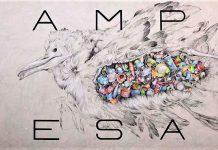 CAMPO DE SAL. Grafíto, tiza, lápiz color y acrílico sobre tabla. 60,5x125 cm.