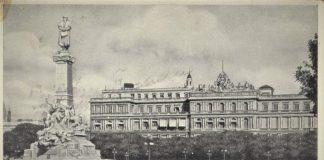 Imagen antigua del monumento a Colón en el centro de Buenos Aires, donde llevaba casi un siglo y del que ha sido desterrado recientemente.