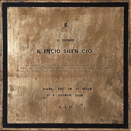 SILENCIO. Pan de oro y acrílico sobre lienzo. 30x30 cm.