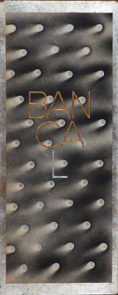 BANCAL. Pan de oro y plata, metal y técnica mixta sobre tabla. 100x40 cm.