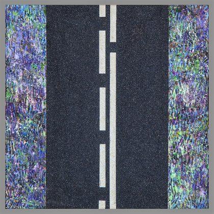 COLINA PARK. Polvo de mármol, carborumdum y óleo sobre lienzo. 30x30 cm.