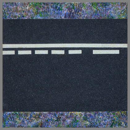 FANECADES DE L´OR. Polvo de mármol, carborumdum y óleo sobre lienzo. 30x30 cm.