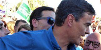Pedro Sánchez en un mitín con sus partidarios, poco antes de recuperar la Secretaría General del PSOE. JM PAGADOR