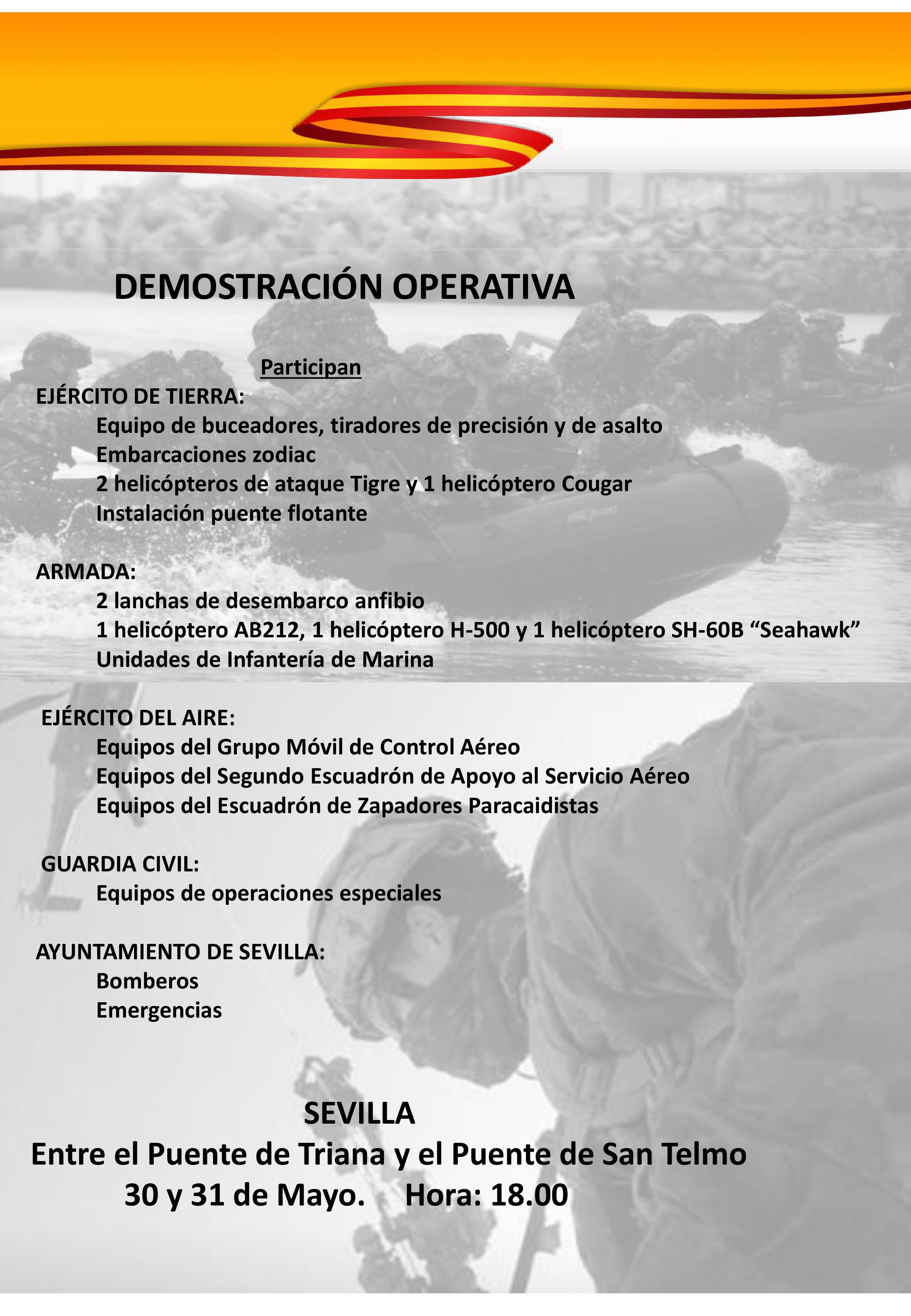 Día de las Fuerzas Armadas 2019 Sevilla.