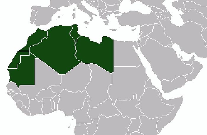 Países del Magreb. WIKIPEDIA