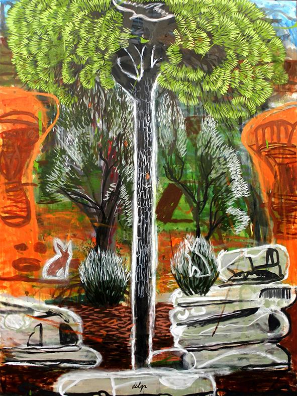 fantasía occidental, la ruina de Adán. (pintura neoiberista). 200x150 cm