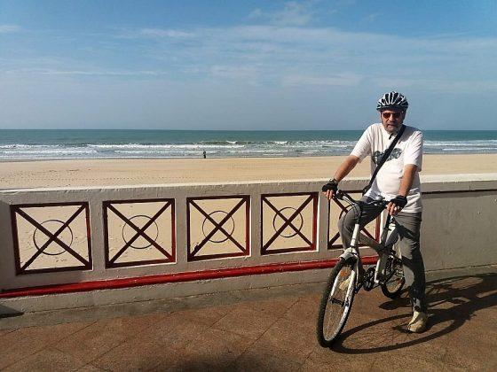 Los ciclistas, como el autor de esta información, han ganado mucho con este alcalde. J.M. PAGADOR