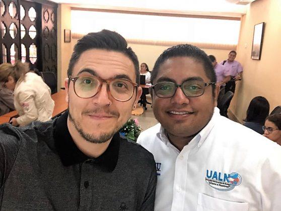Con Melvin Lezama Coordinador UALN-UNAN Leon.