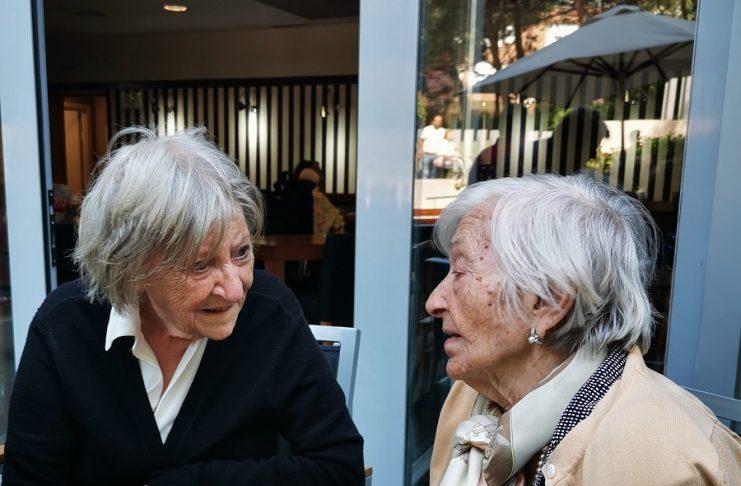 Ana Guardione, a la izquierda, con Ascensión Mendieta, dos mujeres excepcionales.