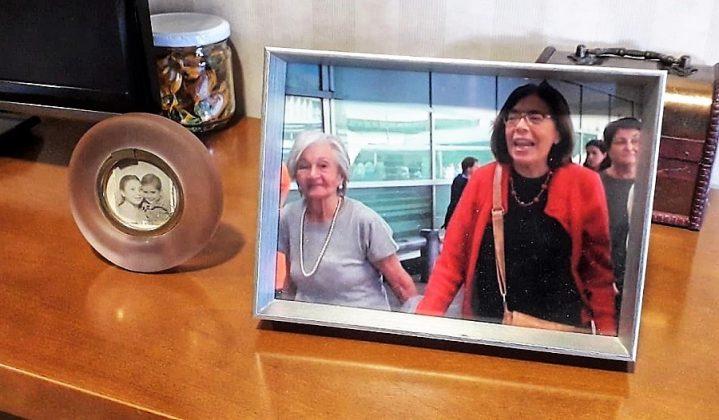 Ascensión y Ana Messuti, la abogada argentina, hace unos años, en pleno proceso.