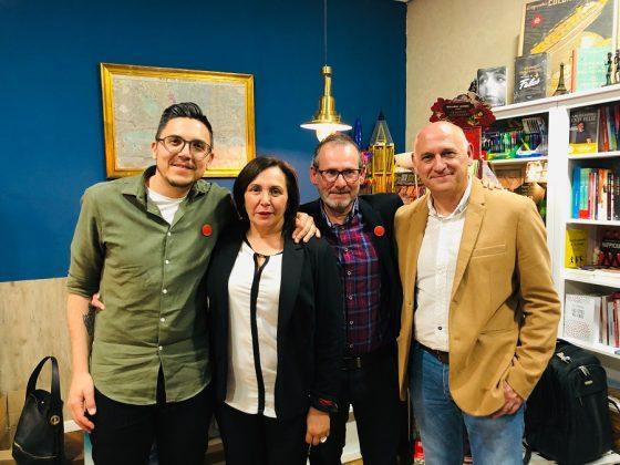 Con Rosa Urbano y Juan Carlos Casco, en la presentacion del libro Extremadura 2050.