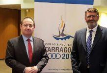 Jesús Cimarro, a la izquierda, con el director gerente del Consorcio del Festival, Pedro Blanco. JUNTAEX