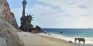 """Insuperable escena final de la película """"El planeta de los simios"""" (1968)."""