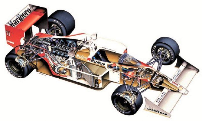 McLaren MP4 4H Honda de 1988