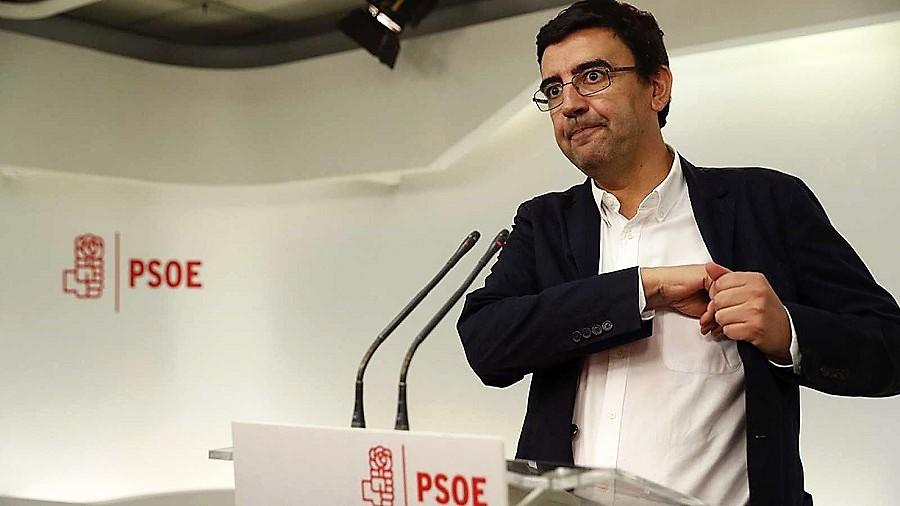 Como portavoz de la gestora del PSOE tuvo un destacado papel contra Pedro Sánchez. RTVE