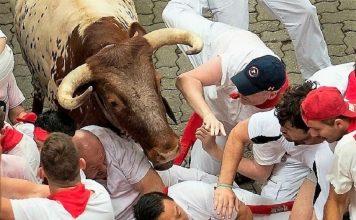 En el encierro del nuevo Gobierno de Navarra hay un toro de nombre Bildu. RTVE