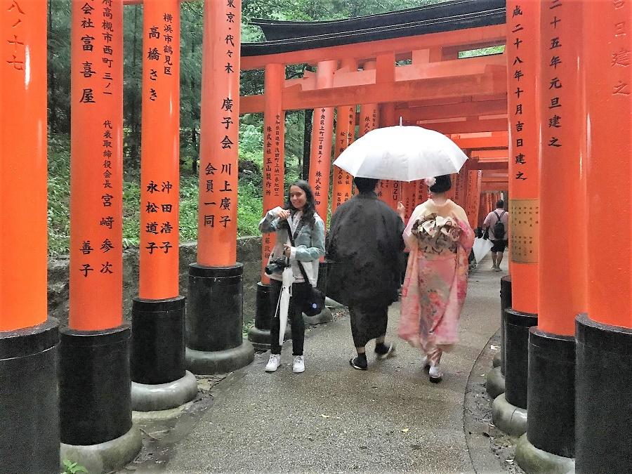 Un bosque de torii.