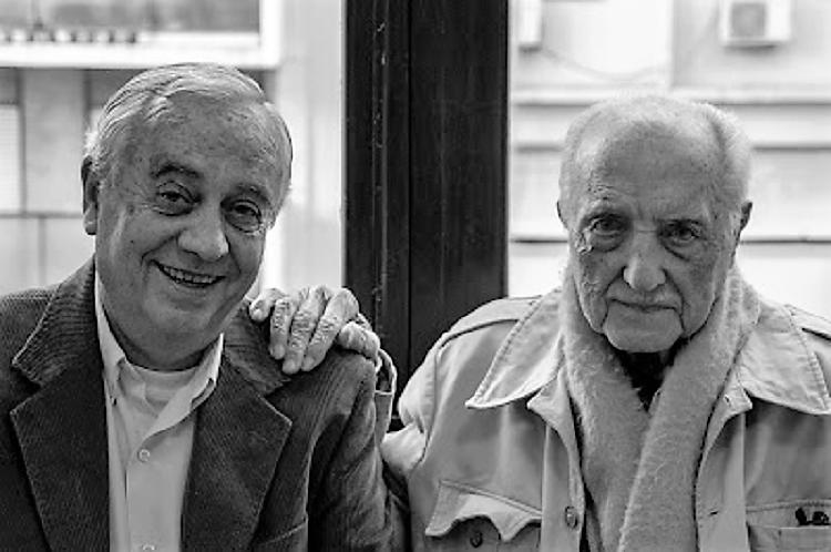 Don José, con nuestro colaborador el gran poeta Carlos Penelas.