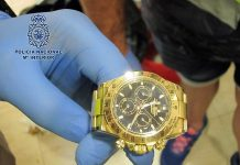 Uno de los relojes de alta gama recuperados. CNP