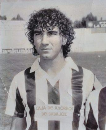 En su época de jugador del C.D. Badajoz.