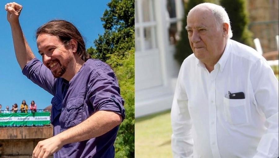 Iglesias y Amancio Ortega, la paradoja de la España que crea paga y el político que cobra y destruye. A3