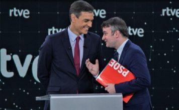 Sánchez le ríe las gracias mientras él tiene al PSOE boca abajo. RTVE