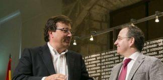 Vara y Cimarro en 2016, cuando el primero dijo que le gustaría que ganase el empresario. JUNTAEX