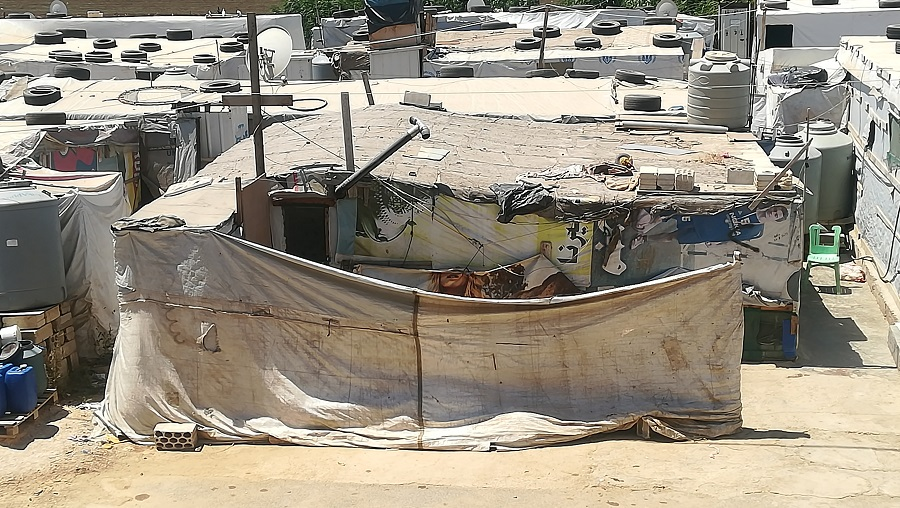 Campo de refugiados en el Líbano.