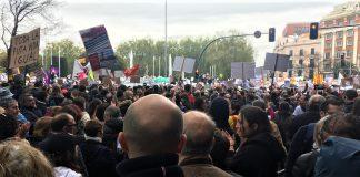 Imagen de la última gran manifestación en Madrid, en protesta por la España vaciada. FERNANDO PULIDO