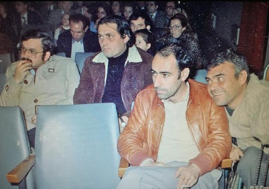 Imagen histórica de Juan Serna en Don Benito, al frente de los movimientos que lideró desde muy joven.