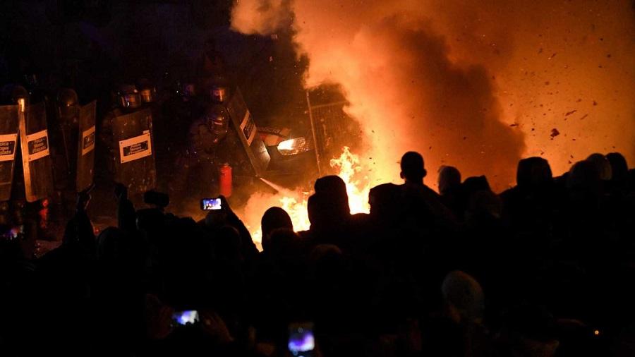 Una protesta más aparatosa que masiva. RTVE