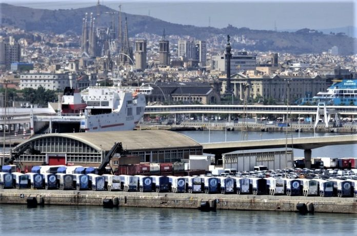 Vista aerea de Barcelona la semana pasada. La normalidad reinó en la mayoría de los barrios. PROPRONews