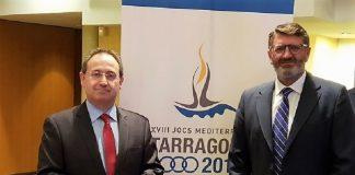 Blanco, gerente del Consorcio (d), y Cimarro, el exclusivo beneficiario de la nueva prórroga. JUNTEX