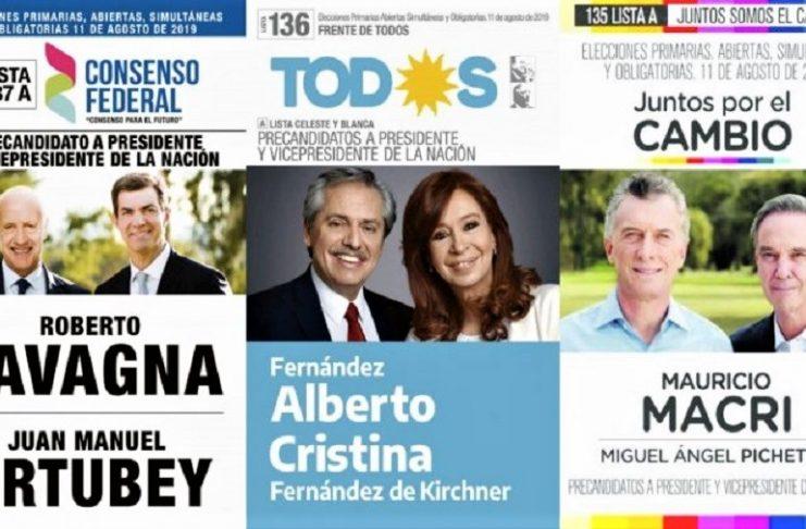Carteles de las diferentes candidaturas de la reciente campaña electoral argentina que ganó el tandem Fernández-Fernández.