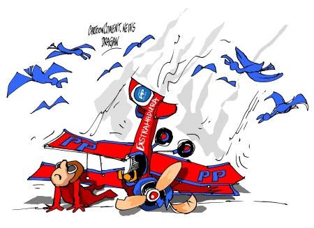 El Barón rojo se estrella. Monago visto por Dragan de noviembre de 2014. WORDPRESS.COM