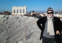 José Manuel Villafaina, crítico teatral de PROPRONews, en la arena de Verona.