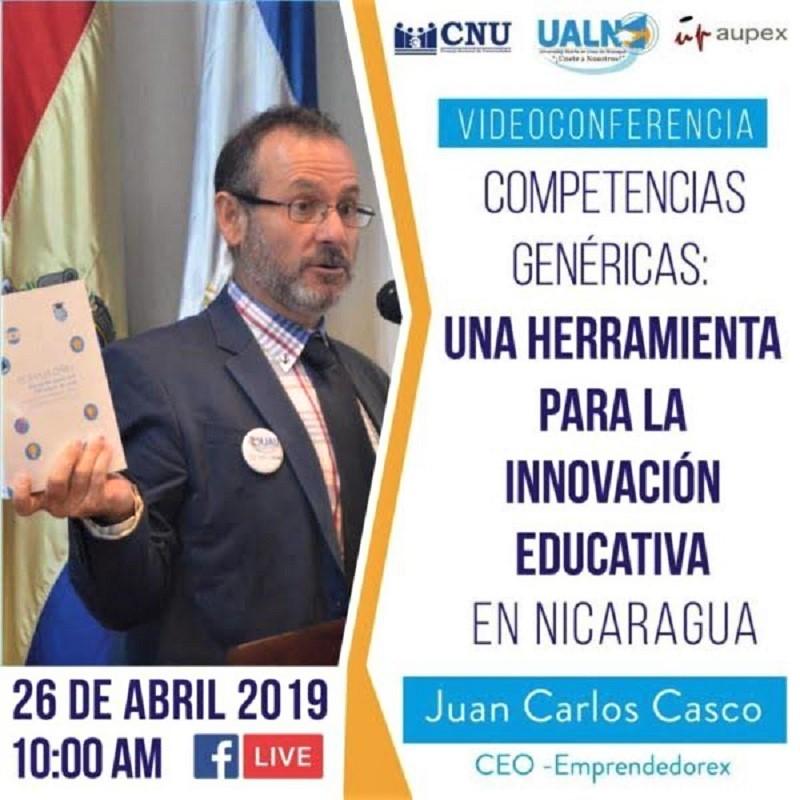 Juan Carlos Casco presentando el Libro Blanco de la Educación en Nicaragua.