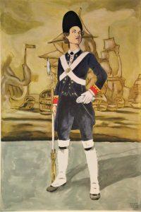 Ana María de Soto, primera mujer del mundo que fue infante de marina. AMPARO ALEPUZ