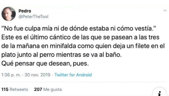 El antológico tuit de Pedro el Herramienta.