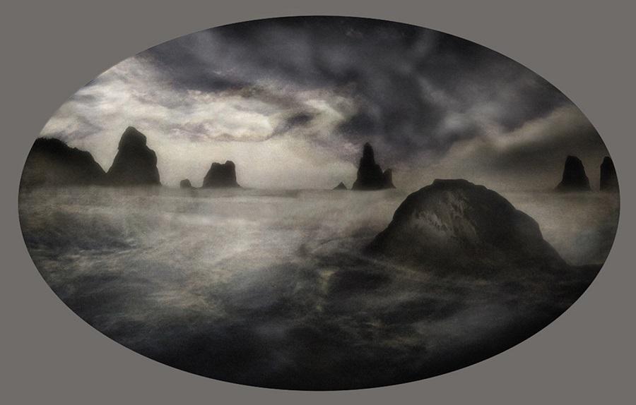 Obra de la serie Las cosas del cielo y de la tierra. JAM Montoya