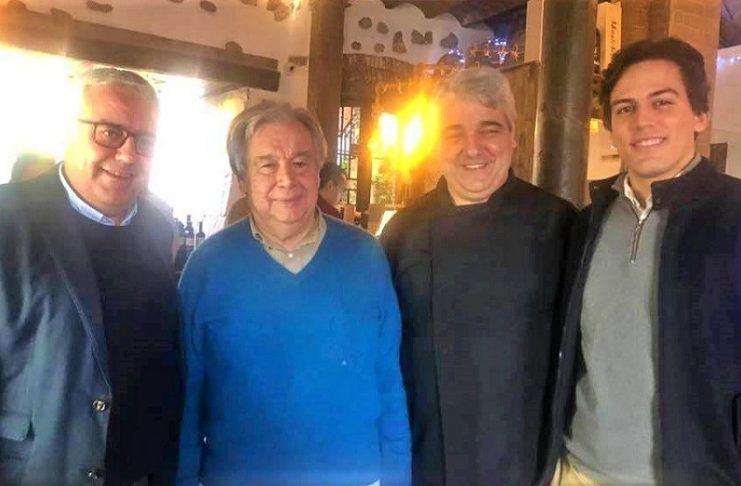 Antonio Guterres en Elvas, la sencillez de uno de los políticos más importantes del mundo. FACEBOOK