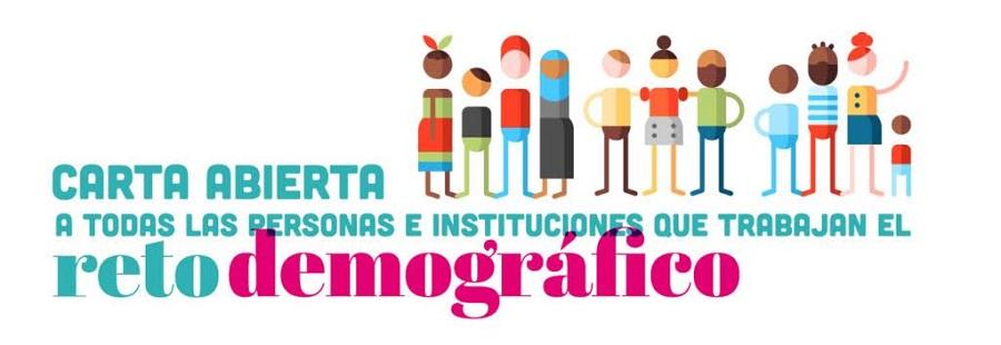 Carta abierta a todas las personas e instituciones que trabajan el reto demográfico