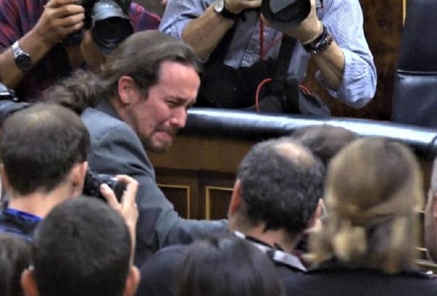 Pablo Iglesias llora la alegría de su vicepresidencia. RTVE